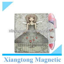Promotional Gifts Beautiful Angels Series Magnetic Closure Memo Pad