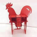 china manufacture wood cock craft for home table decoration