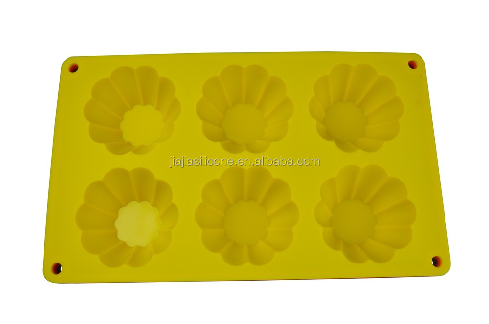 Hot sell durable silicone cake mode, flower type silicone cake mode