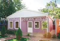 prefabricated light steel frame building / residential house for sale
