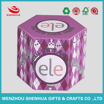 hot sell custom packaging hexagon paper rigid box from China