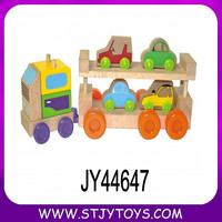Wooden tractor toy & Car Carrier Truck