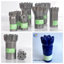 Drifting and tunneling R25 R28 R32 thread button bit with best possible rates