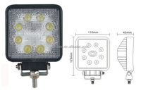 Aluminum Alloy 24w Rechargeable Led Work Light Portable Flood Lights Suitable For Car Charging