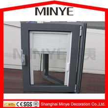 MAGNETIC TYPE VENETIAN BLINDS ALUMINUM CASEMENT WINDOW MANUAL TYPE ALUMINUM WINDOW DOUBLE GLAZED DOUBLE TEMPERED CHINA SUPPLIER