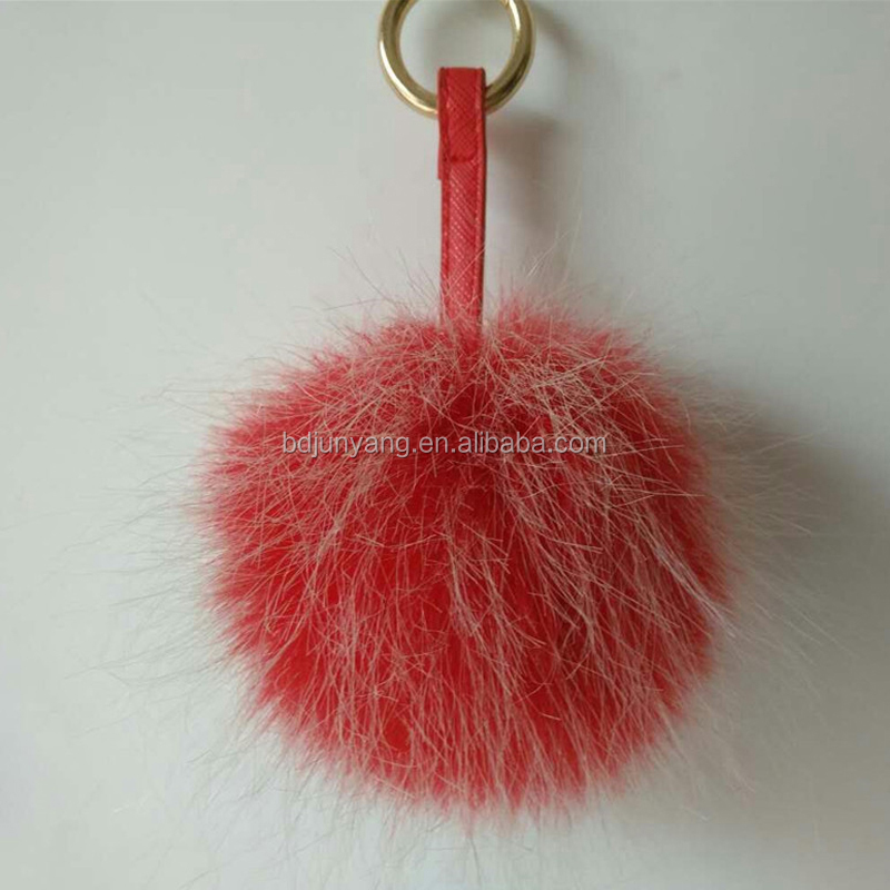 2e6353fb0dde Alibaba hot sale colorful fur ball bag charm furry keychain asia fake fur  pom poms