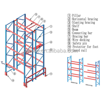 Warehouse Storage Stacking Steel Structure pipe rack for sale
