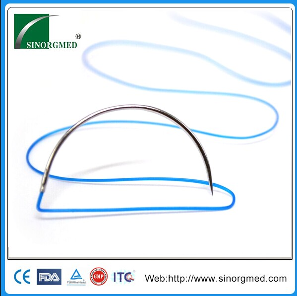 Disposable Medical Blue Ophthalmic Nylon Surgical Suture 10/0