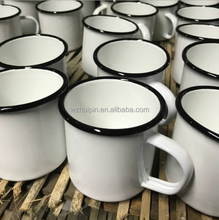 Blank coffee enamel mug with custom logo unbreakable for sublimation made by ceramic
