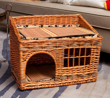 Soft Nature Pet House House Handle Cave Pet wicker rattan cat house