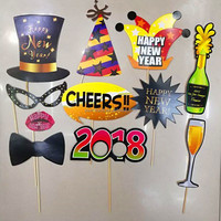 European Hot Selling Newest Happy New Year 2018 Photo Booth Props