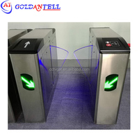 Half height prestige security bidirectional flap barrier gate automation turnstile rfid door entry system
