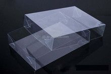 custom square clear plastic hinge lid box