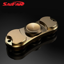 New Design Relieve Stress Brass Hand Spinner Fidget Toys Ceramic Ball Bearings 608 Finger Spinner