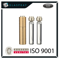 SCALA CNC Twist and Spray 20ml Brushed Gold Aluminium Alloy Refillable Perfume Atomizer