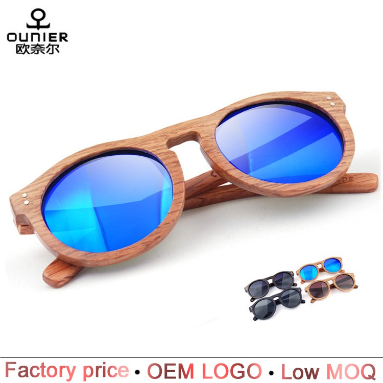 New product simple design custom bamboo wooden sunglasses