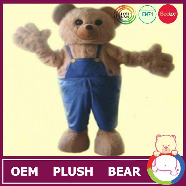 CE certificated plush stuffed animal wholesale bear clothes