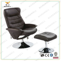 WorkWell luxry relax pu leather recliner chair with with steel base