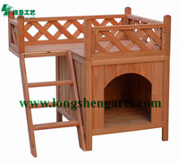 Wooden pet house for cat with belcony