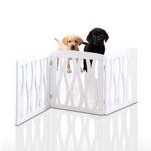 Wholesale solid pine wood foldable dog gate home decor wood room dividers partitions