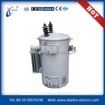Single-phase Pole-mounted Power Transformer 15~250KVA-6.35~33KV/0.12~0.48KV