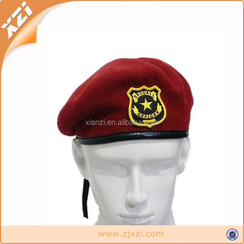 USA troops hat and custom embroidered badges military berets