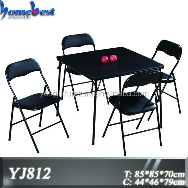 Foldable Bridge Table and Chair Set