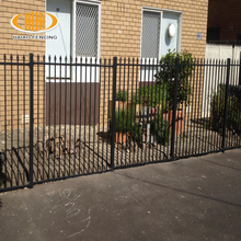 New type polyester painting cheap wrought iron garden border fence