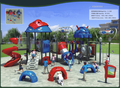 Popular and high quality Plastic kids outdoor playground equipment