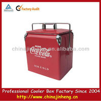 2015 new promotional 13L portable vintage metal cooler box