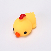 New design Promotional Silicone Squishy animal toys 3D mini squishy Stress Release chicken toys high quality Kawaii squishy toy