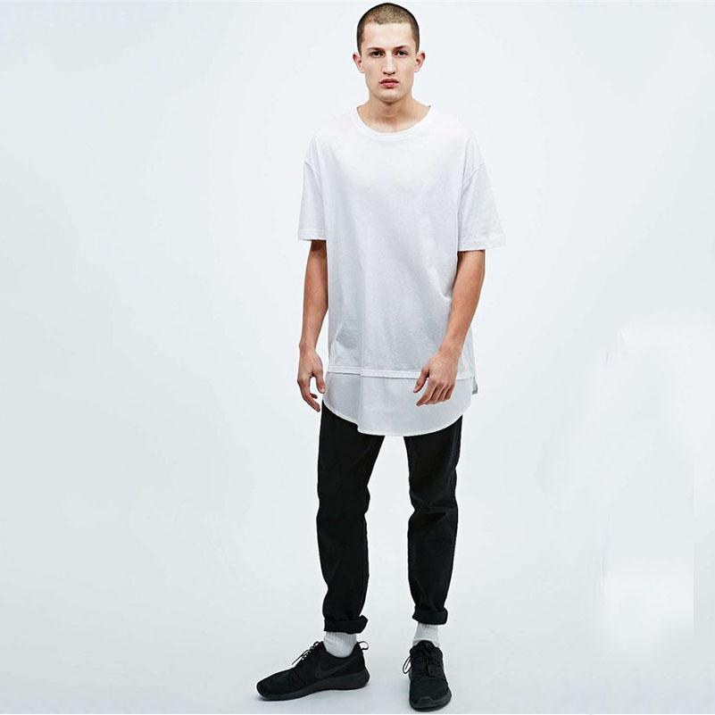 Top Fashion Mens Oversize T Shirt In White Plain White T