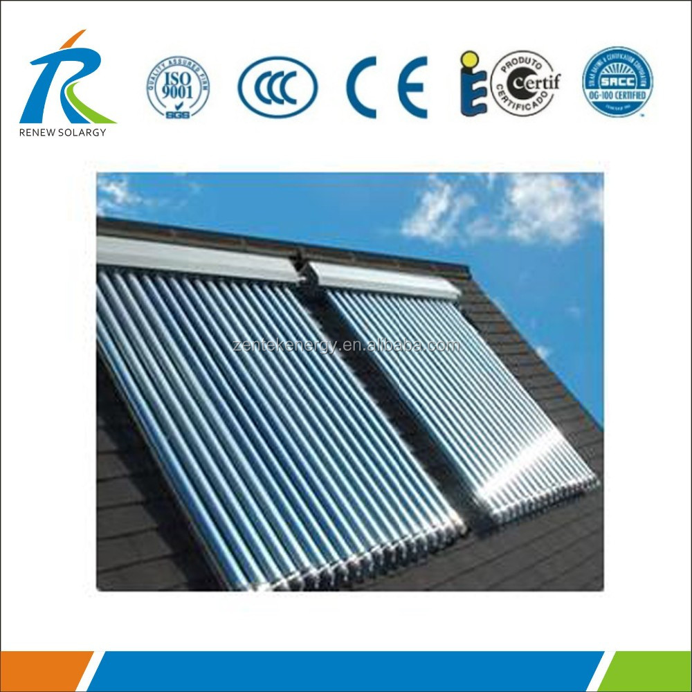 Factory directly evacuated tube solar collector for sale