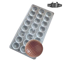 Round shaped ball PC candy baking tray chocolate molds
