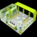 Detian customize portable cheap booth trade show equipment exhibition stand
