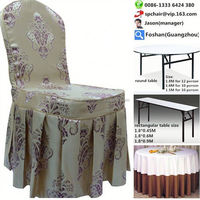 luxury polyester chair cover and table cover for wedding