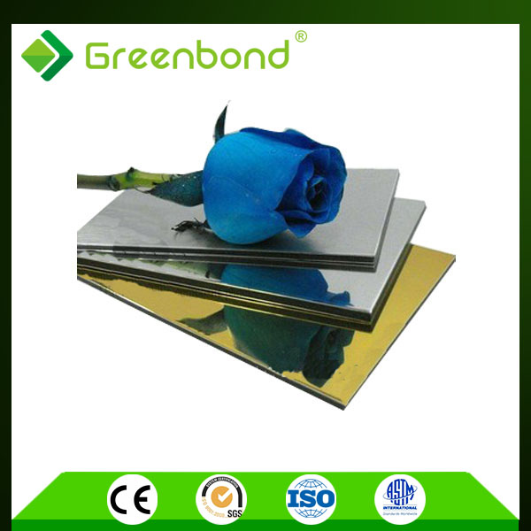 Greenbond aluminum mirror coating composite panel in china