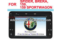 double DIN car dvd radio audio video player with gps bluetooth For Alfa Romeo 159 /Spider/Brera