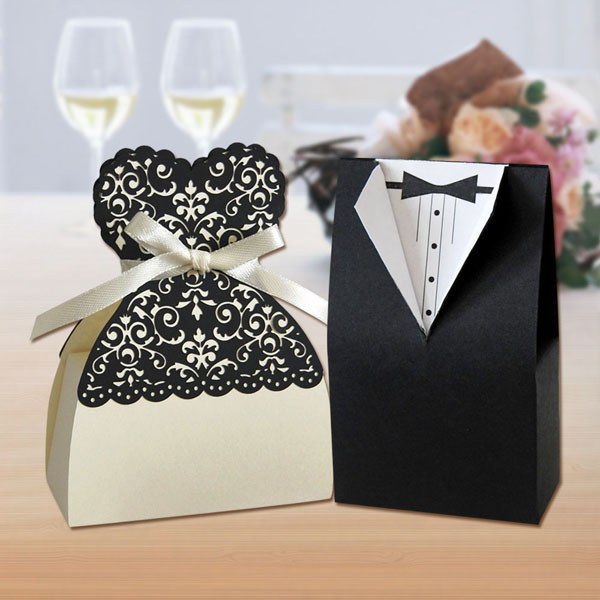 Party & wedding supplier irregular shape chocolate candy box laser cut favor gift boxes wholesdale