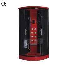 Red tempered glass steam cabin bathroom showers