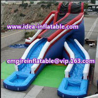 Fashion design inflatable double slip and slide giant water slide ID-SLL022