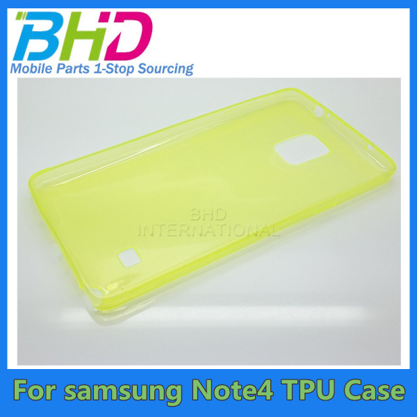 0.3mm Ultra Thin Slim Crystal Clear Transparent Soft Gel TPU Case Cover for samsung galaxy note 4