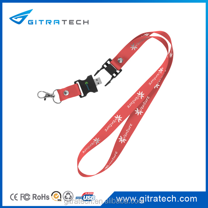 Updated Cheapest Factory Directly Selling Mini Plastic usb 2.0 driver windows7 Customed Logo with neck-lace