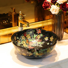Chinese factory direct countertop ceramic small art basin sink