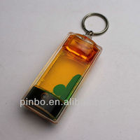 liquid filled keychain
