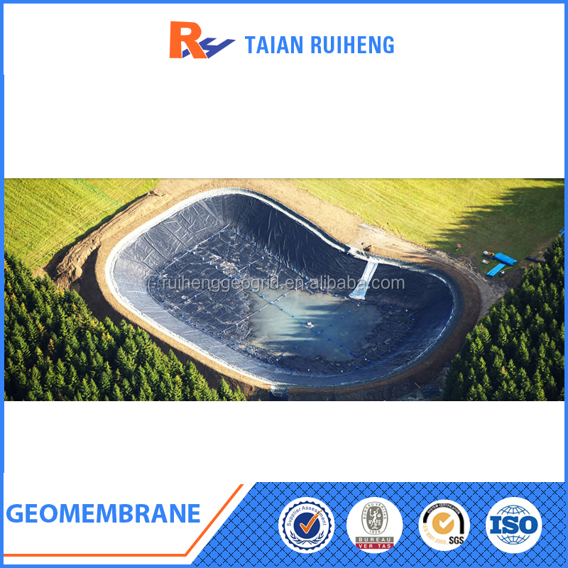 Geomembrane hdpe geomembrane fish farm pond liners buy for Blue koi pond liner