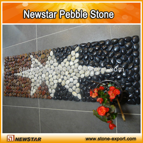 Newstar pebble paving mexican beach pebbles