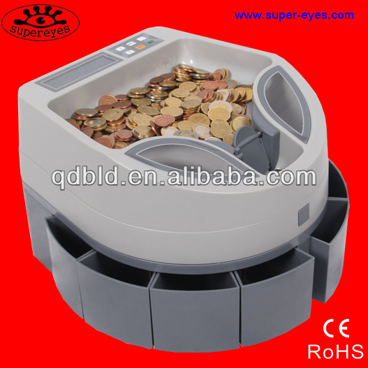 coin counting and sorting machine