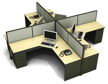 Crossing shape modular workstation desk for office cubicle for Mobiliario y equipo de oficina