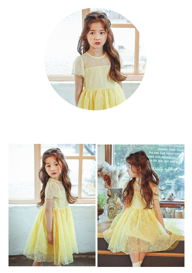 2017 lace casual dress lovely little party dress baby girl dress children clothes